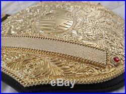 2019 Adult 100% Real Leather Big Gold Wrestling Championship belt High Quality