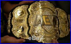 AEW Heavyweight Championship Replica leather Belt 4mm