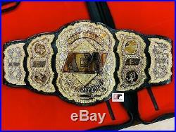 AEW World Championship Belt Dual Layer All Elite Wrestling Championship 8MM Zinc