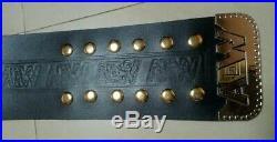 AEW World Championship Wrestling Belt Dual Plated free Custom Name plate