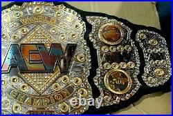 AEW World Heavyweight Championship wrestling leather Belt 4MM
