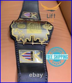 AWA World Heavy Weight Wrestling Championship Replica Title Belt 2MM Brass Adult