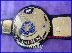 Attitude Era Big Eagle Scratch Logo Championship Belt Adult Size Gold Plated