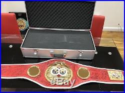 Authentic IBF Championship boxing belt-MULTISIGNED-READ & LOOK! WBC, WBO, WBA