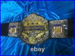 Awa World Heavyweight Wrestling Championship Belt Adult Size Raplica
