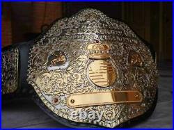 BIG GOLD Dual Plated Championship Belt 24k Gold 4mm Zinc Adult Size
