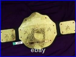BIG GOLD World Heavyweight Wrestling Championship Belt Real Leather Custom Belt