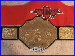 Big gold WCW world heavyweight championship title replica adult belt n bag