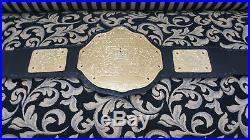 Brand New WWE Big Gold World Heavyweight Championship Wrestling Leather Belt