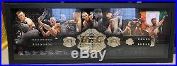 CONOR McGREGOR Autographed Signed UFC Framed Championship Belt FANATICS