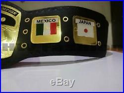 Domed Globe Nwa World Heavyweight Wrestling Championship Belt Adult Size