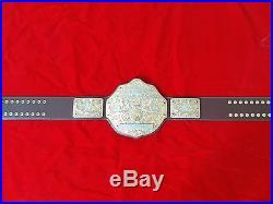 Fandu Big Gold Nickel/gold Wrestling Championship Title Belt Dark Brown Leather