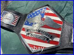 GTS Youtube Show Used U. S. Championship Wrestling Belt Real Not Replica
