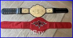 Genuine WWE WWF WCW Big Gold World Heavyweight Championship Belt Replica Leather