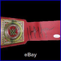 Hulk Hogan Autographed Championship Pro Wrestling Belt (JSA) Red