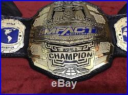 Impact World Championship Belt In 4mm Zinc Deep Etching & 24kt Gold Plated