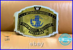 Intercontinental Heavyweight Championship Wrestling Replica Belt White 2MM