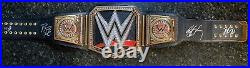 Jakks Autographed WWE Championship Adult Replica Belt Signed X 4 Goldberg Roman