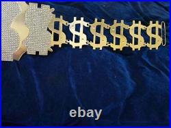 Million Dollar Championship Gold Belt 6MM Brass Metal Plates, Gold Plating
