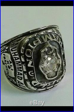 Muhammad Ali Championship Boxing Ring World Champ Belt Silver Ring Sizs 12
