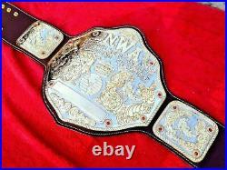 NWA Big Gold World HeavyWeight Wrestling Championship Belt Replica Adult Size