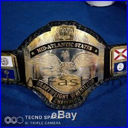 NWA Mid-Atlantic Championship Wrestling Belt, Adult Size & Metal Plates