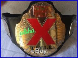 NWA-TNA X Division Championship belt adult