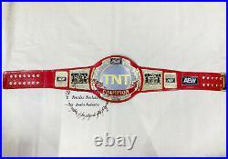 New AEW TNT Championship Wrestling Replica Leather Belt Original Leather Strap