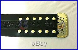 New AEW World Championship Wrestling Leather Belt, 2mm Plates