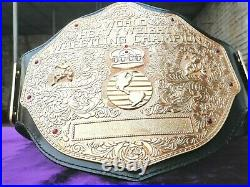 New Big Gold Textured Wrestling Championship Belt thick plates Adult size