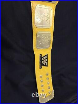 New Intercontinental HeavyWeight Championship Replica Wrestling Belt Yellow