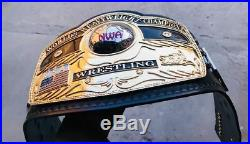 New NWA WORLD HEAVYWEIGHT Championship Title Belt 24K Gold Plated Zinc Plates