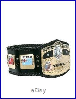 New NWA WORLD Heavyweight Championship Wrestling Title Belt 2mm Gold Adult