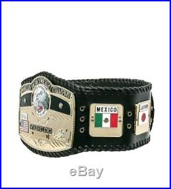 New NWA WORLD Heavyweight Championship Wrestling Title Belt 4mm Gold Adult Size