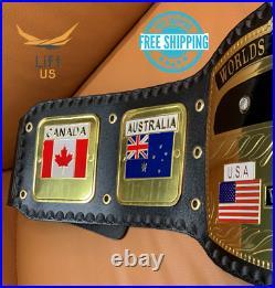 Nwa Domed Globe World Heavyweight Championship Replica Belt Brass 2mm Adult Size