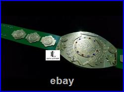 Old Intercontinental Championship Title Zinc Gold Plates Leather Belt Tito Style