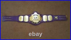 PURPLE WWF Classic Gold Winged Eagle Championship Belt Adult Size. 2mm