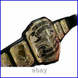 Premier World Heavyweight Wrestling Championship Belt Brass Metal Plates Replica