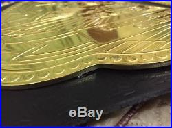 Pride FC Gold Hand Made Leather Championship Replica Belt Size 50 Length