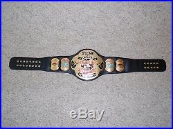 RARE TAZ VERSION ECW WORLD CHAMPIONSHIP METAL ADULT SIZE REPLICA TITLE BELT wwe