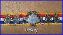 RING MAGAZINE Boxing ChampionShip Belt. ANY WRITING ON PLATE