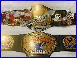 Rare Figures Toy Company Hardcore Championship Replica Wrestling Belt Wwf Wcw