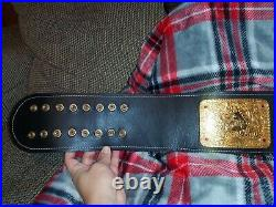 Real WCW Style Big Gold Championship Wrestling Title Belt -ECW WWF NWA TNA NJPW