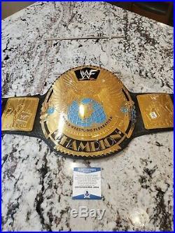 Real WWF World Heavyweight Championship Leather Belt Big Eagle Undertaker USA