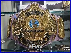 Real WWF World Heavyweight Championship Leather Belt Winged Eagle Reggie Parks