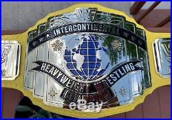 Real Wwf Warrior Intercontinental Championship Wrestling Belt Nicolau/millican
