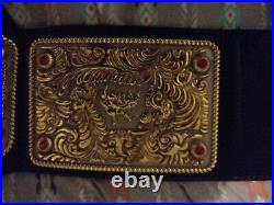 Real wwf big gold world heavyweight championship belt
