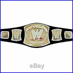 Replica WWE Championship Spinner Wrestling Title Belt 4mm Brass Plate Rhinestone