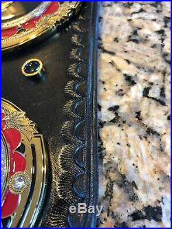 Ring of Honor Championship Wrestling Belt REAL LEATHER
