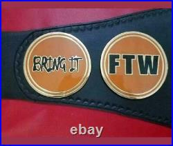 TAZ FTW Heavyweight Championship Belt adult size genuine leather replica 2mm